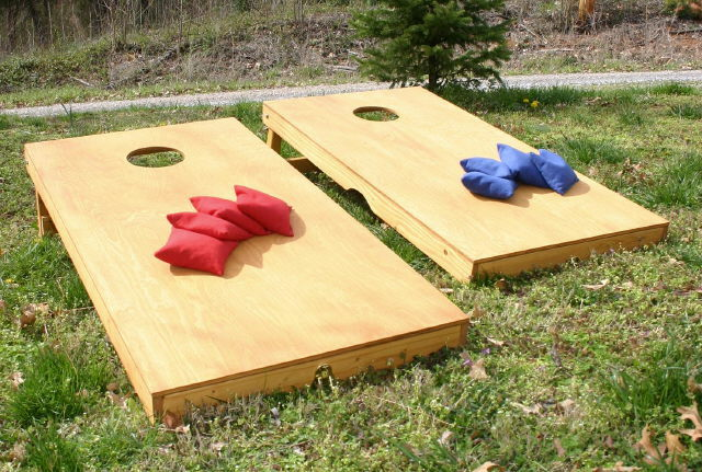 Where to find CORNHOLE GAME BOARD  EACH in Jackson